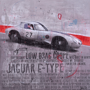 Jaguar E-Type II - Markus Haub - Original Artwork