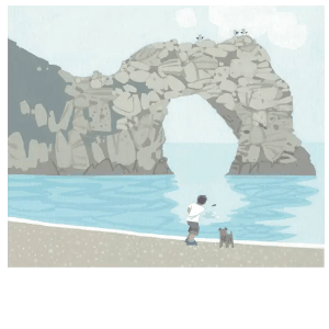 Skimming Stones Durdle Door - Sasha Harding - Limited Edition