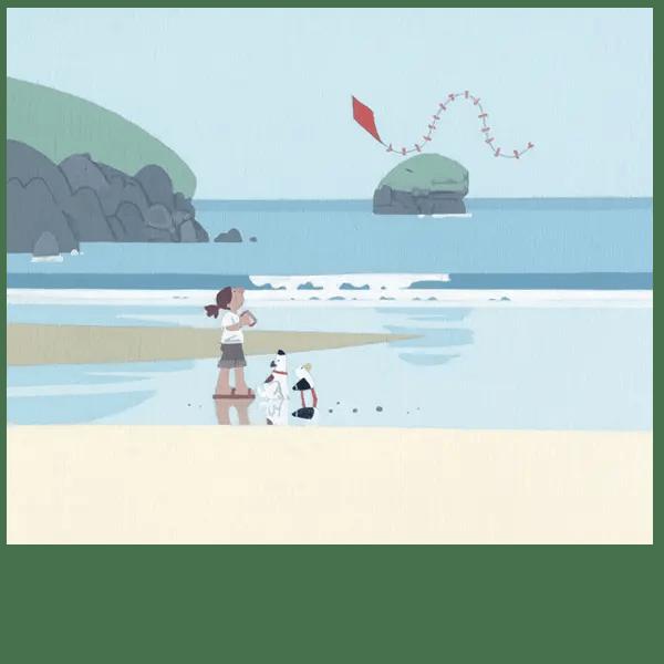 The Kite At Porthreath - Sasha Harding - Limited Edition