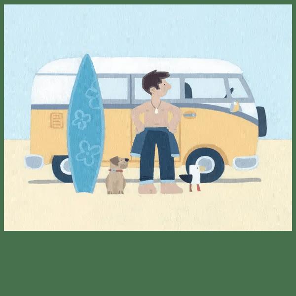 Cool Surf Dude - Sasha Harding - Limited Edition