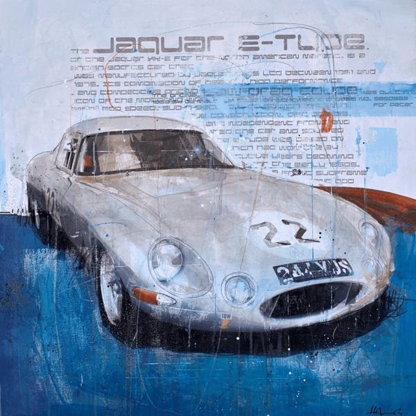 Jaguar E-Type - Markus Haub - Original Artwork