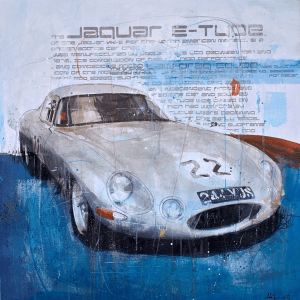 Jaguar E-Type - Markus Haub - Original Artwork