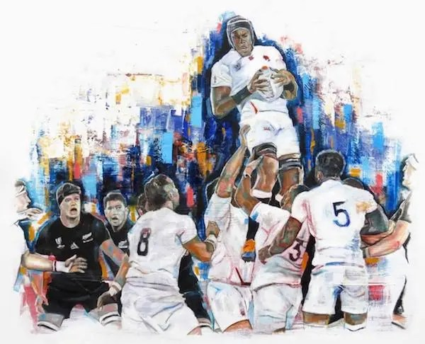England V New Zealand Line Out - Leanne Gilroy - Limited Edition