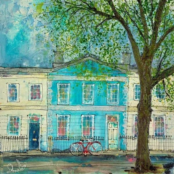 By A Blue House - Katharine Dove - Original Artwork