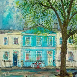 By A Blue House - Katharine Dove - Original Artwork