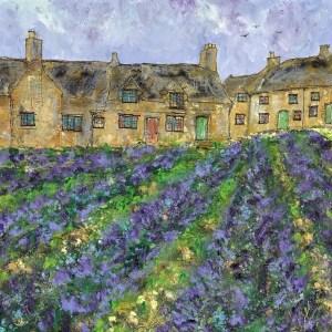 Cotswold Lavender - Katharine Dove - Original Artwork