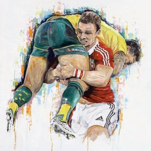 George North and Israel Folau - Leanne Gilroy - Limited Edition