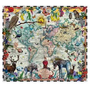Eminent Navigators World Chart Map - Kristjana S Williams - Limited Edition