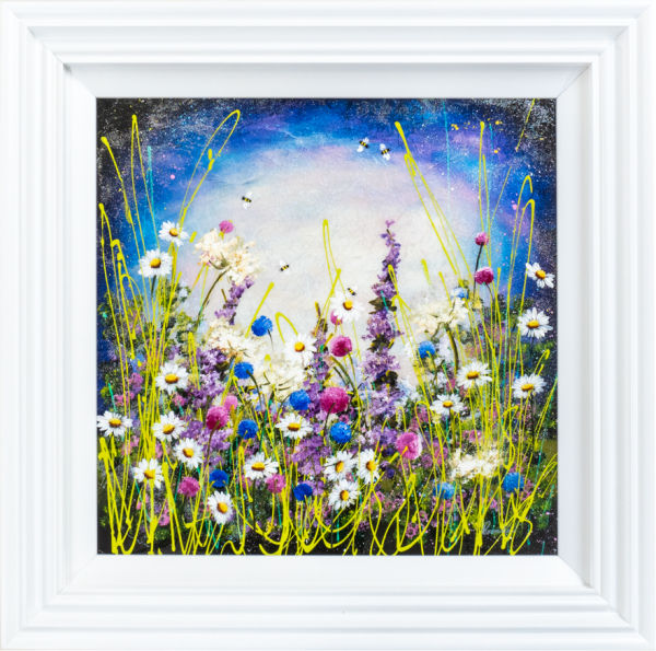 Evening Flowers - by Rozanne Bell - Original Artwork