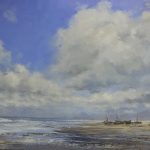 Need The Sun To Break by Tony Hinchliffe - Original Oil Painting