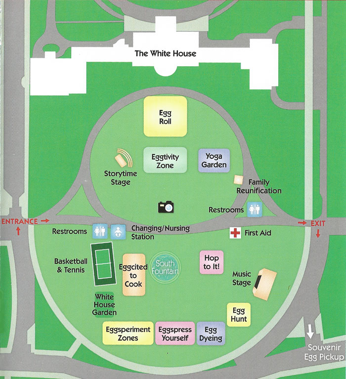 Easter Egg Roll Activity Map