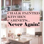 Chalk Painted Kitchen Cabinets Never Again Anne P Makeup And More