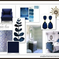 Mondays Hues: Blue Master Bedroom En-Suite Interior Design Board