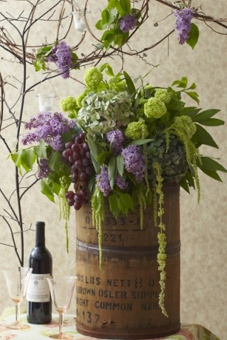 Gorgeous! For wine theme party.