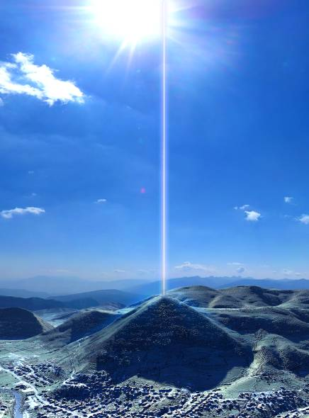 Bosnian Pyramid , Pyramid of Sun_EnergyBeam