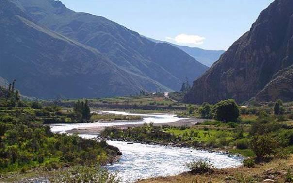 Ollantaytambo, Urubamaba river, Sacred Valley, Peru