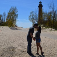 Little Sable Point Lighthouse on Lake Michigan