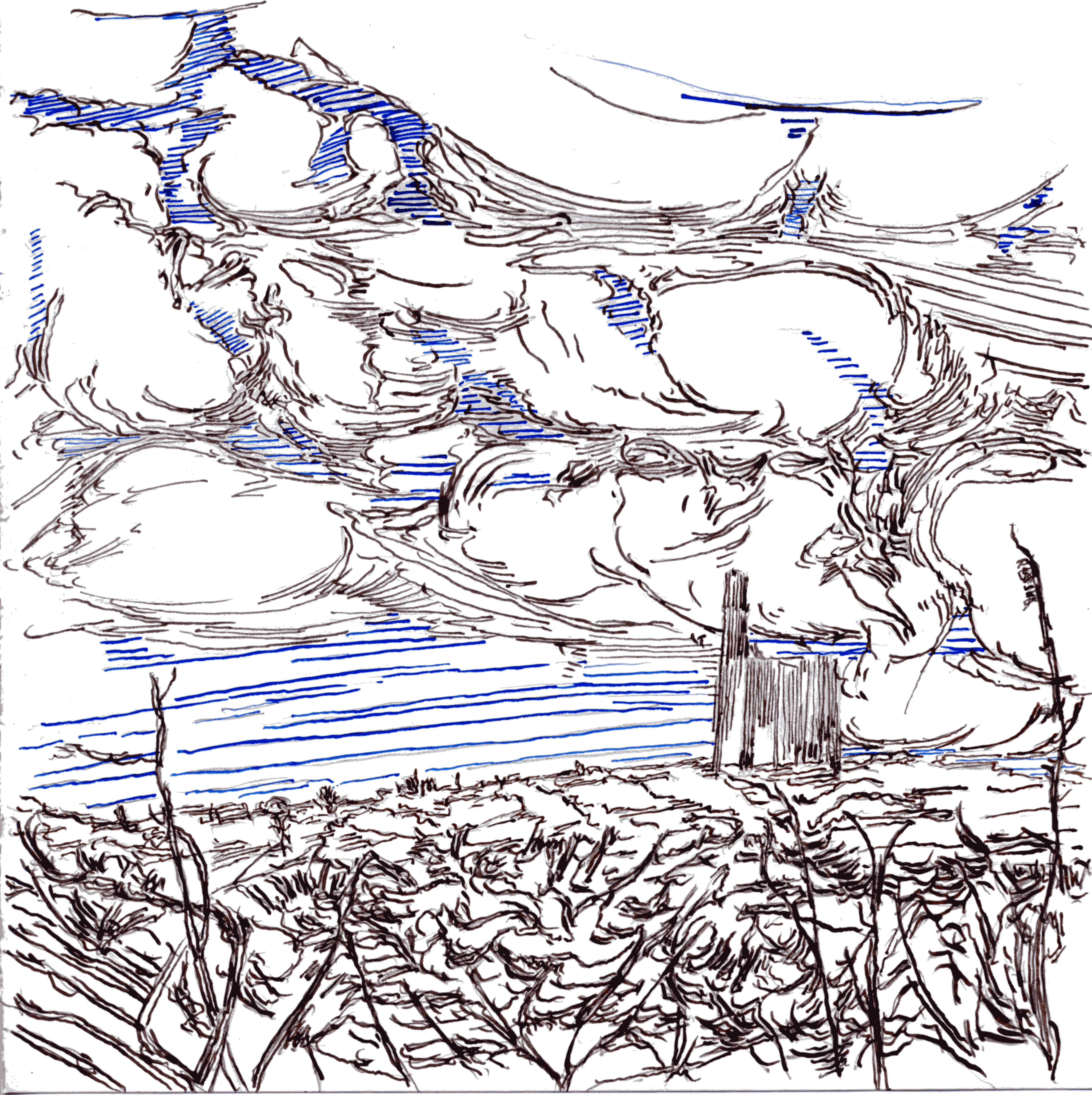 Drawings Landscapes Cornwall