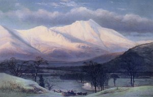 Moat Mountain from North Conway by Benjamin Champney