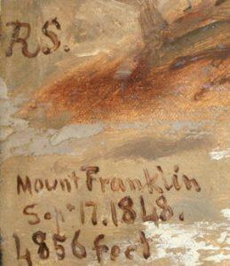 RS. / Mount Franklin / Sep+ 17.1848. / 1,856 feet