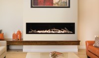 Boulevard Vent-Free Linear Contemporary Fireplace 60""