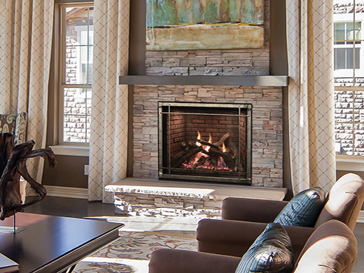 Rushmore Fireplaces with TruFlame Technology DirectVent  White Mountain Hearth