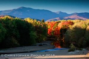 Mt Washington and Mt Adams in fall.