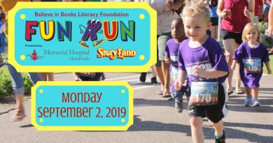 BIBLF Kids Fun Run presented by Memorial Hospital and Story Land September 2nd.