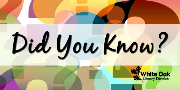 image with colorful question marks and the words Did You Know?