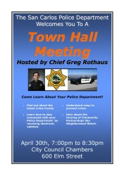 meeting town hall police carlos san 2009 opportunity april