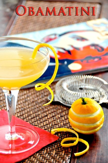 The Presidential Obamatini Cocktail : Martini with pineapple juice for Barack Obama | @whiteonrice
