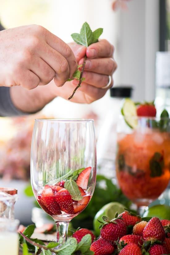 Strawberry Mojito Recipe is the perfect Mojitos Recipe or Strawberry Cocktail Recipe | @whiteonrice