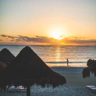 Sun Rise at Fairmont Mayakoba, Riviera Maya Mexico   @whiteonrice