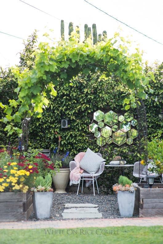 Todd and Diane's Garden on whiteonricecouple.com @whiteonrice