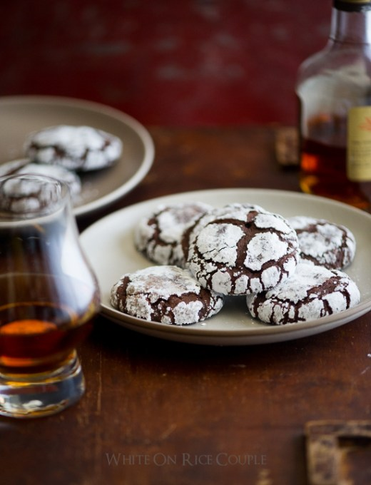 Bourbon Dark Chocolate Crack Cookies on WhiteOnRiceCouple.com