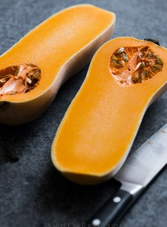 Butternut Squash Soup with Truffle Oil from @whiteonrice
