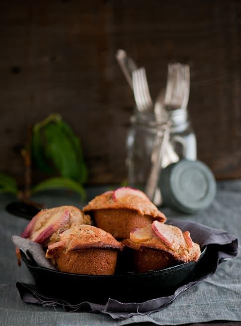 Ginger Peach Muffins Recipe | @whiteonrice