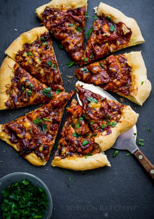 BBQ Turkey Pizza from WhiteOnRiceCouple.com