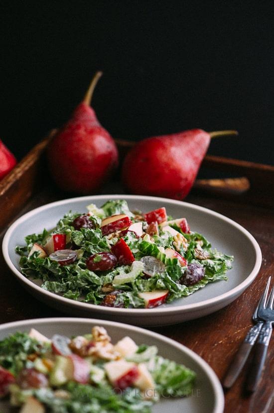 Pear Waldorf Salad Recipe | @whiteonrice