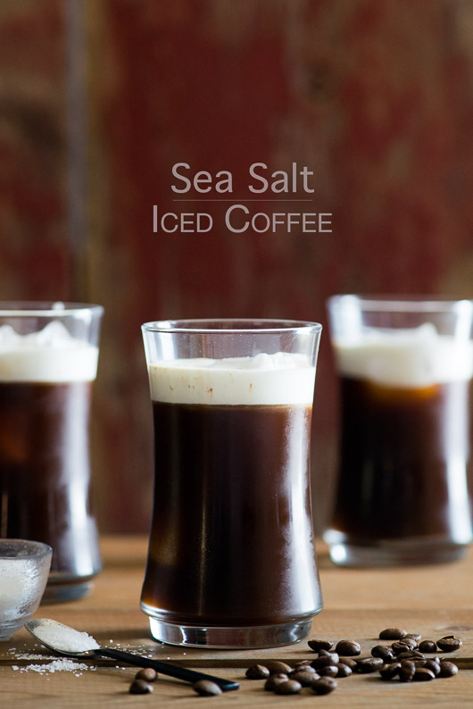 Sea Salt Iced Coffee with Sea Salt Cream from @whiteonrice