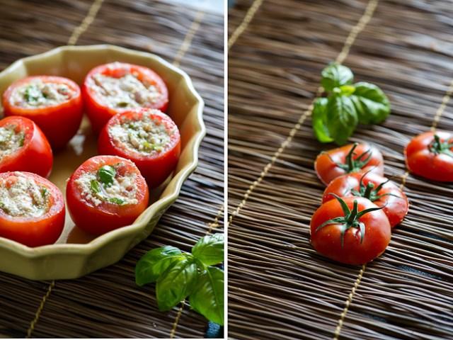 Vegetarian stuffed tomatoes with quinoa and tofu   @whiteonrice