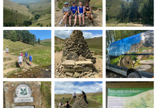 WPP rebuilds a stone cairn and bench!
