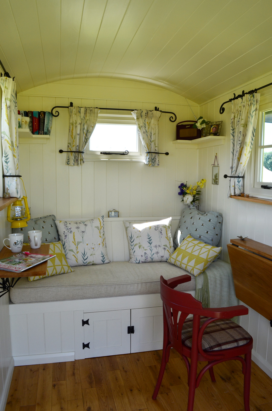 Shepherd's Hut Interior