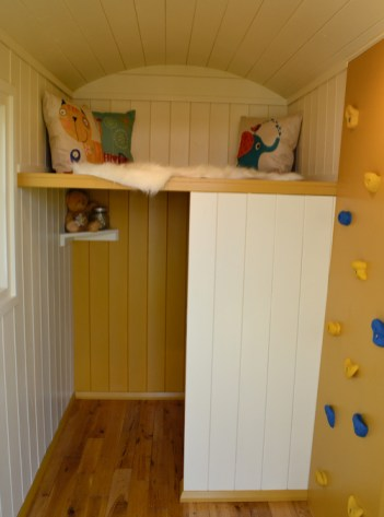 Inspiring children's playroom complete with climbing wall!