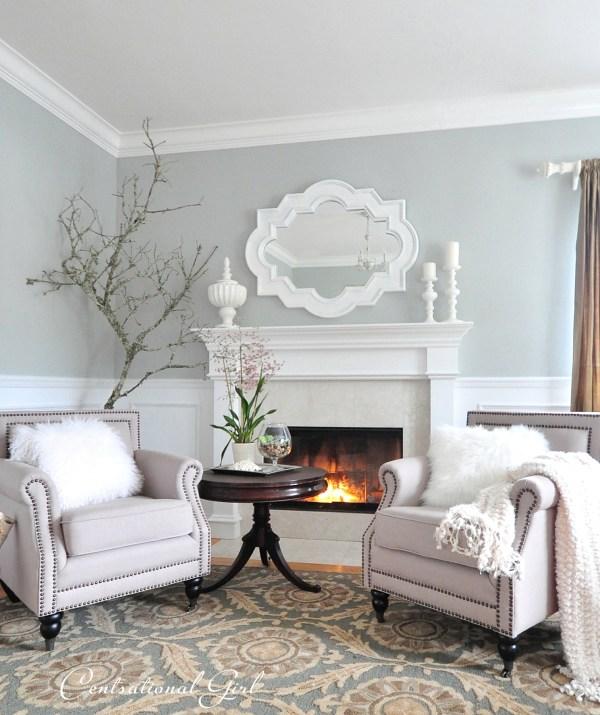 Light Blue Grey Color Paint Living Room