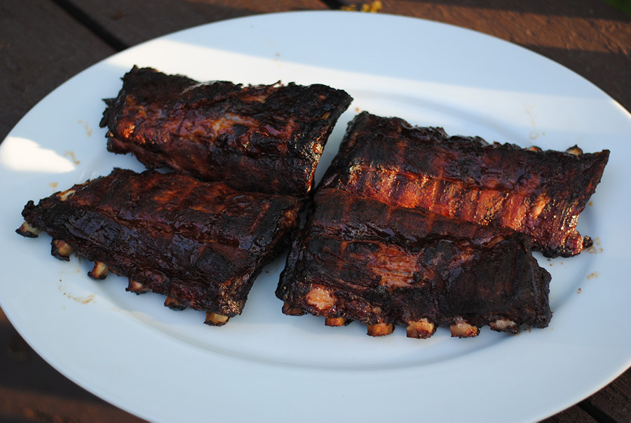 Hickory smoked ribs