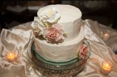 Garcia Wedding-Cake with flower