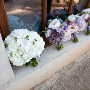 A line of bouquets