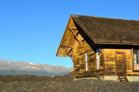 Mining building in Leadville, Colorado