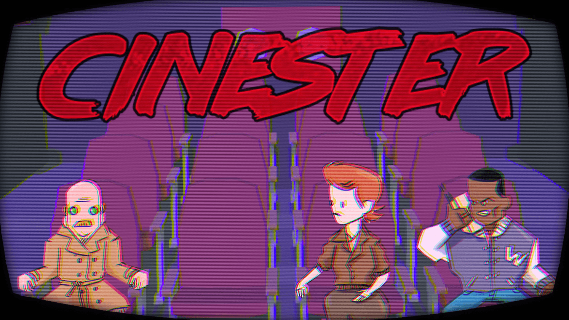 Cinester - key art image for our Global Game Jam 2018 entry about a 'sinister cinema'